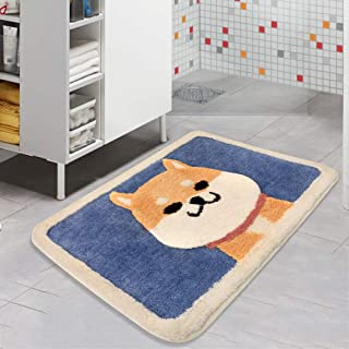 Color&Geometry Anti Slip Bath Mat Rug, Shag Shower Mats with Extra Soft and Water Absorbent Rugs, Machine Wash/Dry, Luxury Bath Carpet Fit for Bathtub, Shower and Bath Room…