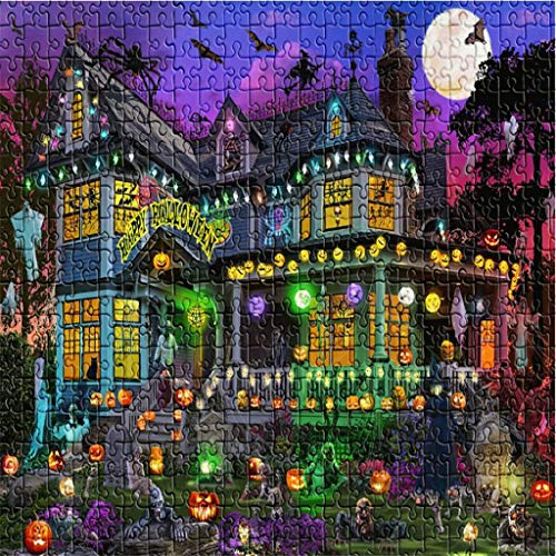 shiruip 1000 Piece Halloween Jigsaw Puzzle,Large Adult Childrens Educational Pattern Toy (ArtKari-06)