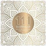 111 Mandalas Libro de Colorear Para Adultos vol. 1: Páginas cuadradas para colorear para la meditación de relajación y el alivio del estrés | Fondo negro