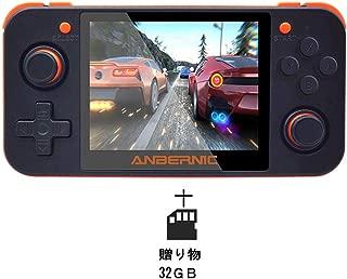 Whatsko RG350ハイマッチ ポータブルゲーム機 Retro Game Linux OpenDinguxシステム 振動モーター 3.5インチIPSスクリーンを 48GB (英語版-黒)