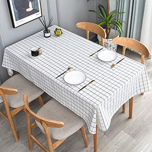 YaYadeer Mantel Cuadrado de 137 x 183 cm, de plástico PEVA, antigoteo, 100 % Impermeable, para Comedor, Fiesta, Camping…