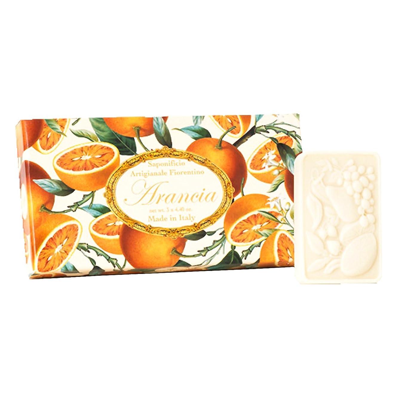割れ目コスチューム圧倒するフィレンツェの 長い歴史から生まれたこだわり石鹸 オレンジ【刻印125g×3個セット】