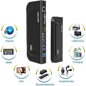 Wavlink Universal Docking Station,USB3.0/&Dual Video Monitor Display DVI HDMI VGA