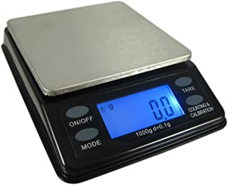 US BALANCE Mini Bench Digital Pocket Scale, 1000 x 0.1gm, Black/Silver