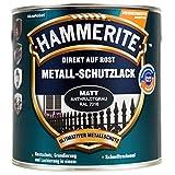1L Hammerite Metallschutz Lack anthrazitgrau RAL 7016 matt