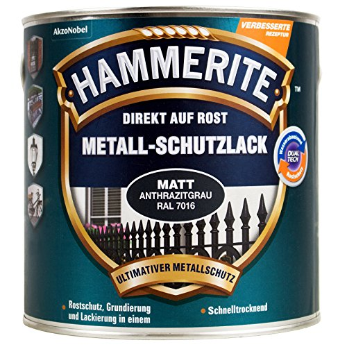 HAMMERITE Metallschutzlack 2in1 matt, anthrazitgrau, 750ml