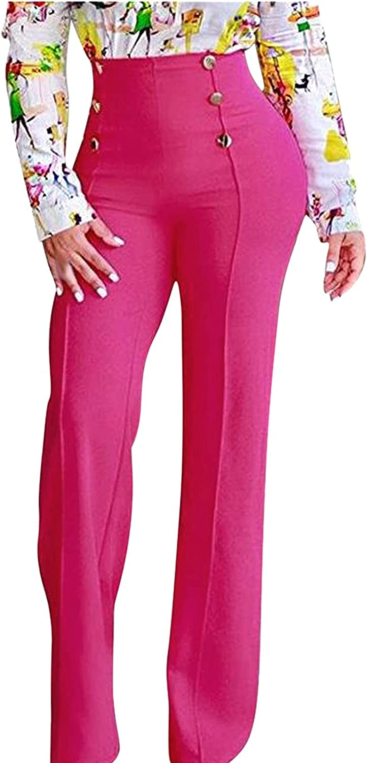 Long Work Pants for Women Stretchy High Waisted Bell Bottom Flare Casual Pants