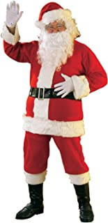 Bright Multi-color Flannel Santa Suit With Gloves
