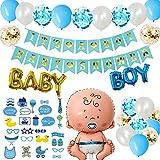 DANXIAN Baby Shower Garçon décorations, It's A Boy Baby Shower Banniere Fête de Naissance, 1 XXL Garçon Ballon...