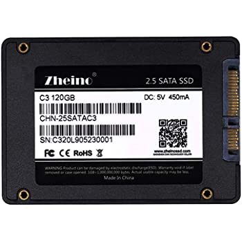 Zheino SATA SSD 120GB 内蔵SSD C3 2.5インチ 7mm厚 3D Nand 採用 SATA3 6Gb/s
