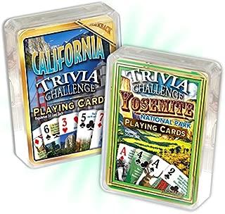Yosemite National Park Trivia & California Trivia Playing Cards Combo