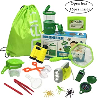 JOLLY SWEETS Outdoor Exploration Kit 16 Pcs Set, Kids-Nature Adventure Toys Bug Kit, Backpack, Butterfly Net Catcher, Bug ...