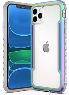 Saikee Compatible with iPhone 11 Pro Max Cases, Clear iPhone 11 Pro Max Cases with Edge Shockproof Protection, TPU Protective Case Cover for Apple iPhone 11 Pro Max (Iridescent)