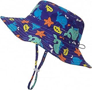 Sombreros de Cubo Para Niños Niñas Ala Ancha Sombreros de Sol UPF 50+ Anti-UV Sombrero de Pescador El Verano Gorro de Playa