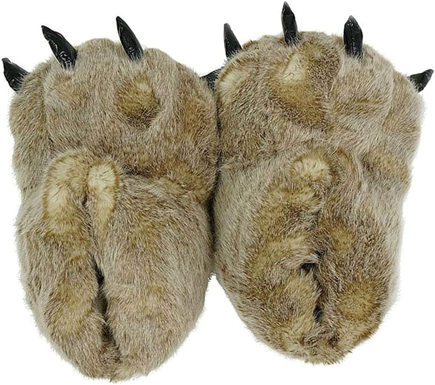 Nafanio Indoor Slippers Warm Winter Home Paws Leopard Claw Claw Plush Bag Cotton shoes Flats