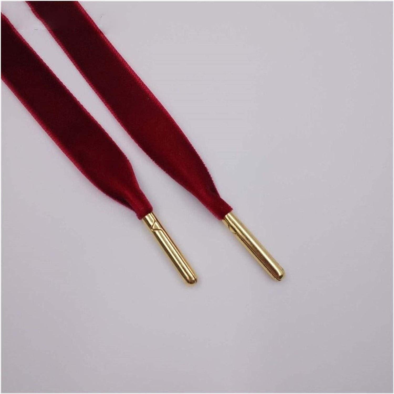 Same day shipping Louisville-Jefferson County Mall GNKJ 1.27cm Width Metal Tips Flat Single Velvet Side Shoelaces S