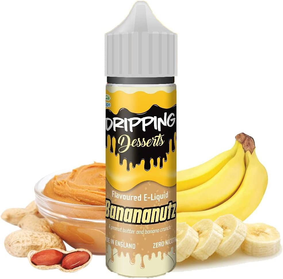 Dripping - Bananutz - Eco Vape E-liquid  50ML   Sin Nicotina: 0MG   80VG/20PG   E-Liquido para Cigarrillos Electronicos   Vaper   E Cigarette   E Shisha