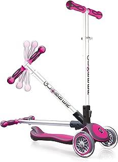 Globber Elite 3 Wheel Folding Adjustable Height Scooter (Pink)