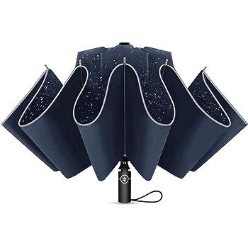 Bleu Marine NOVECASA Parapluie Invers/é Pliant Ouvrir et Fermer Automatique avec Un Bouton Pare-Brise pour Voyager et Plus Pratique dEntrer dans la Voiture