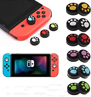 4 pcs Silicone Thumb Grips Cover Stick Joystick Thumbstick Caps for Nintendo Switch NS Nitendo Switch Lite NS JoyCon (2 Blue 2 Pink)