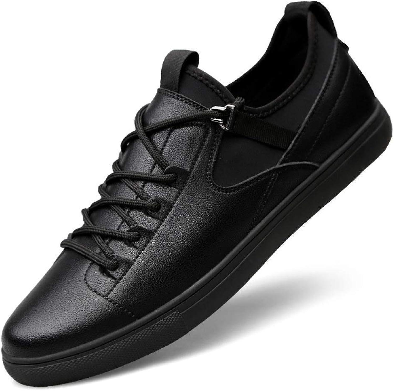 Hhgold New Leather Parquet, Leather Men's shoes Dress Lace, Black Men's Suit shoes Large Size 46 (color   Black, Size   41)