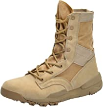 TIFENNY Mid Tube Boots Ladies Fashion Lace Up Flat High-Heeled Scrub Belt Outdoor Tooling Boots Hiking Boots Shoes