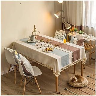 LMWB Bordsskydd, bordsduk, enkel bomull och linne tebordsduk vattentät och oljesäker bordsduk rektangulär bordsmatta-D_120...