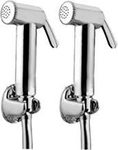 JAQUAR Ald Chr-563 Brass Health Faucet With Tubes And Hooks- Set Of 2 (Chrome Finish)