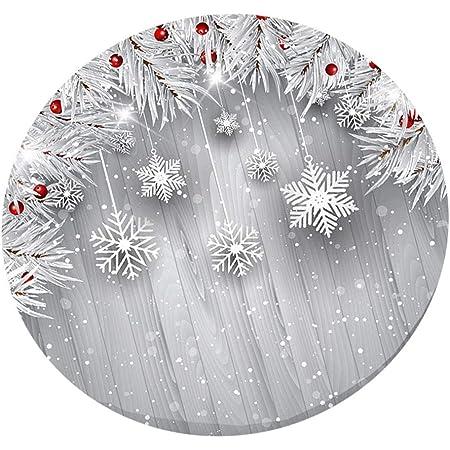 Runde Weihnachtstischdecke für 120cm Küchentische