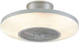Ventilador de techo con LED VIENA color plateado con mando a distancia para regulacion
