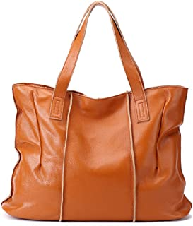 European and American Fashion Leather Lady Bags, Lychee Texture Soft Leather High Capacity Shoulder Bag, New Simple Handbag Female Bag,6 Colors