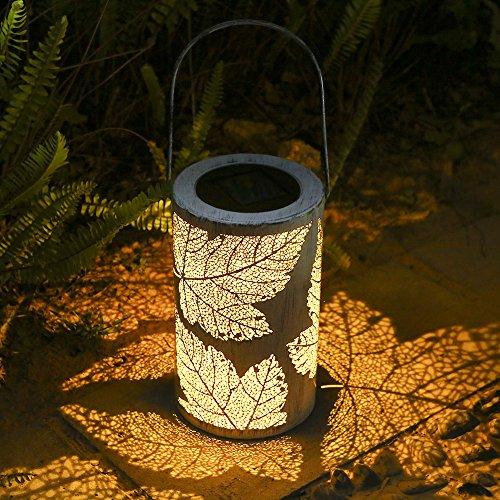 Tomshine Solarlaterne, Metall Solar Laterne für draußen, Solar Garten Hängende Laterne [Energieklasse A+]