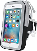 Universal Jogging Cycling Sports Arm Armband Case Sweatproof Waterproof Running Holder with Zipper for all mobile phones up to 5.8 inch iPhone 6 Plus Samsung galaxy S8 S7 Moto, Huawei, HTC, Etc.