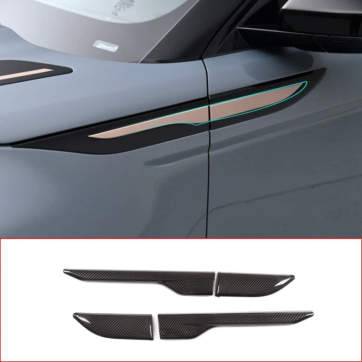 Apply to Carbon Fiber Style ABS Side Baltimore Mall O Accessories Vent Air Auto 5 popular