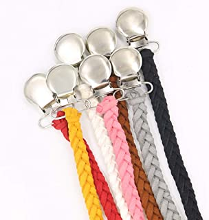 JAGETRADE Vintage Braided Cotton Pacifier Chain Dummy Clips Baby Pacifier Holder Straps for Boys and Girls Modern Unisex Design