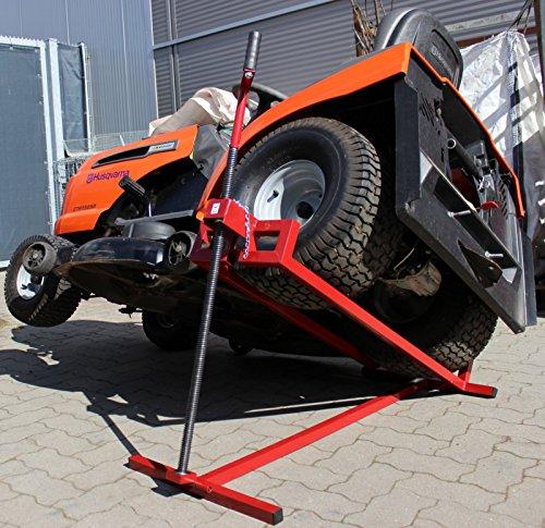 Trutzholm Rasentraktor Heber sehr stabil bis 400kg Aufsitzmäher Rasenmäher Hebevorrichtung Heber massive Ausführung mit 24mm Gewindestange
