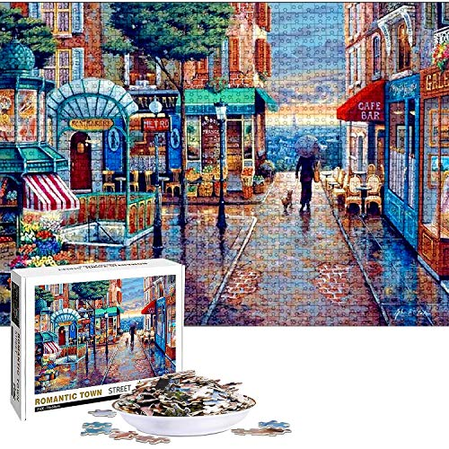 Puzzle Classici, Puzzle 1000 Pezzi per Adulti, Puzzle Creativo, Jigsaw Puzzle Giocattoli, Puzzle Della Città Romantica, Puzzle Fai da te Paesaggi, Giochi Educativi Ideali per Rilassamento