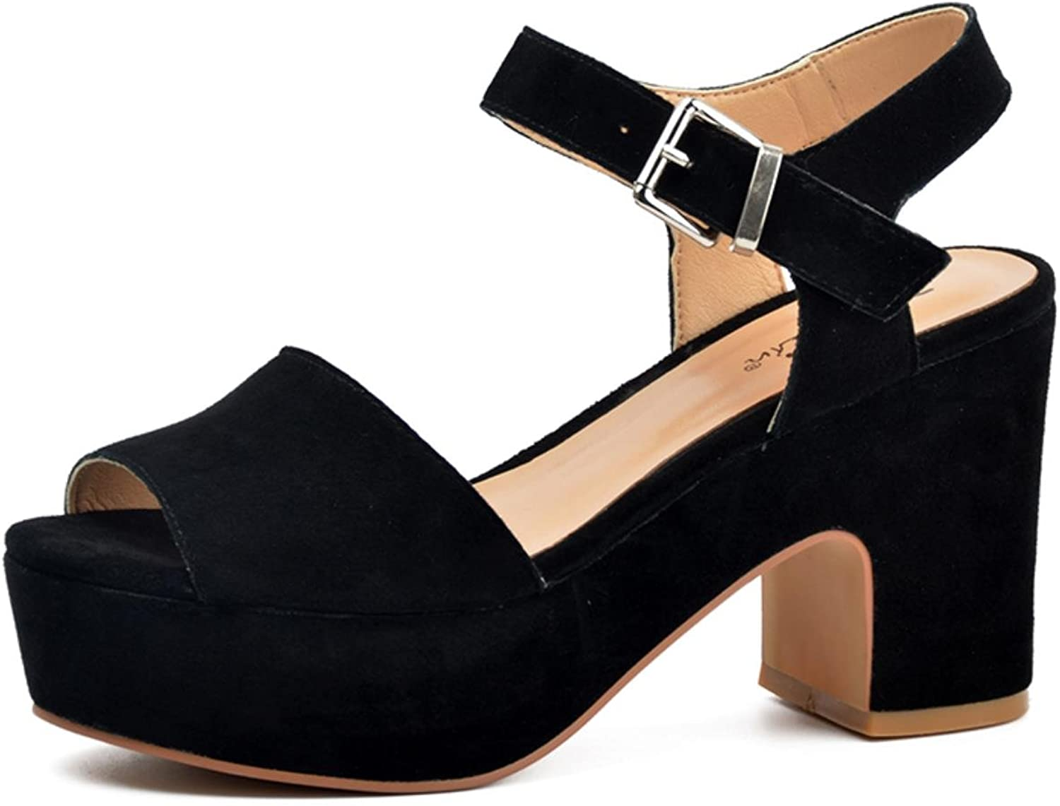 women-in New Fashion Summer open toe wedges Women sandals for high platform genuine leather shoes
