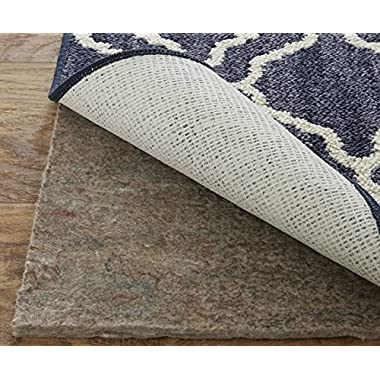 Mohawk Home Dual Surface Felt and Latex Non Slip Rug Pad, 4'x6', 1/4 Inch Thick, Safe for Hardwood Floors and All Surfaces