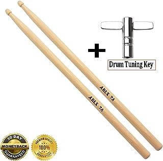 7a Drum sticks Wood Tip 7a drumsticks Maple 1 pair drum sticks and 1 Drum Key Drum Tuning Key