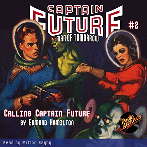 Captain Future #2 audiobook cover art