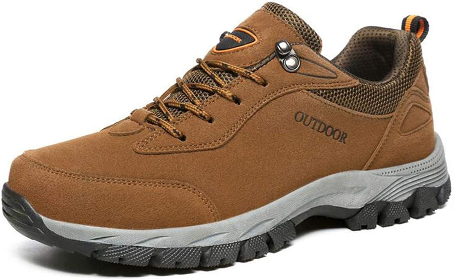 Y-H Men's shoes, Fall Winter Outdoor Hiking shoes Large Size Trekking Travel shoes Comfort Sneakers Cycling shoes (color   Brown, Size   49)