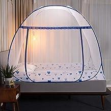 Vouwen muggen netto luifel met beugel bed tent voor volwassen meisje kamer decoratie tent bed gordijn met frame huis slaap...
