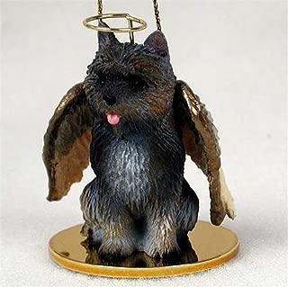 Ky & Co YesKela Cairn Terrier Ornament Angel Figurine Hand Painted Brindle