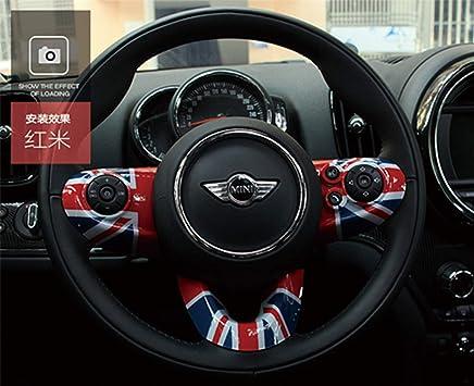 HDX Autocollant en ABS pour Mini Cooper One S JCW F Series F54 Clubman 2016 Rouge//Bleu
