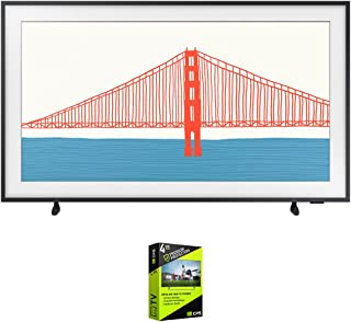 Samsung QN50LS03AA 50 Inch The Frame QLED 4K Smart TV (2021) Bundle with Premium 4 Year Extended Protection Plan