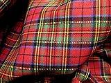 Red Blue Green Mini Stuart Scotch Plaid Tartan Cotton...