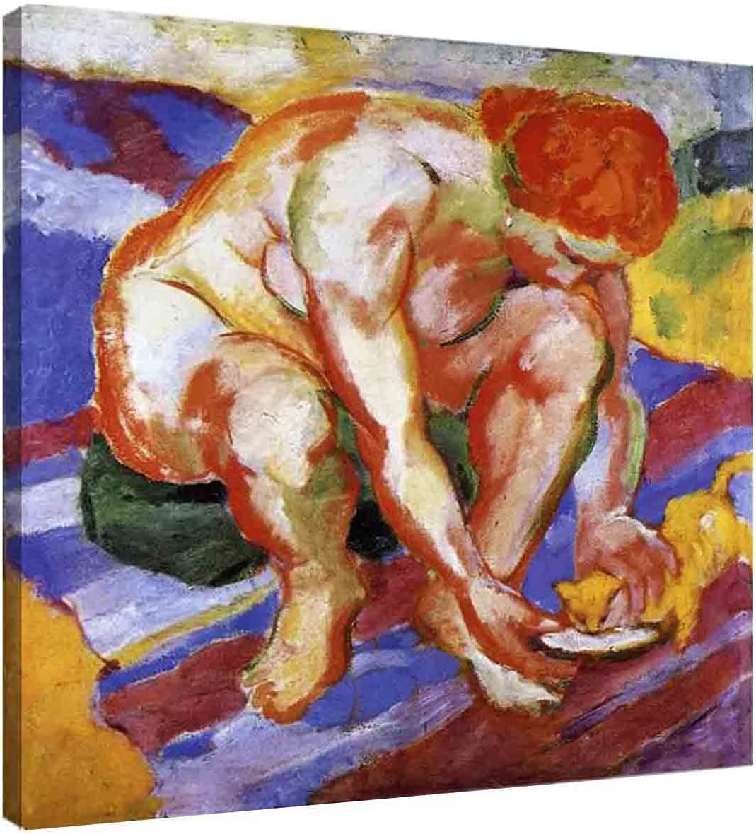 Franz Marc Nude Max Japan's largest assortment 53% OFF with Cat Abstract Art Wall Canvas for Roo Living