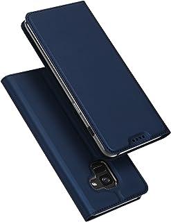 DUX DUCIS Funda Samsung Galaxy A8 2018, PU Cuero Flip Folio Carcasa [Magnético] [Soporte Plegable] [Ranuras para Tarjetas] para Samsung Galaxy A8 2018 (Azul Marino)