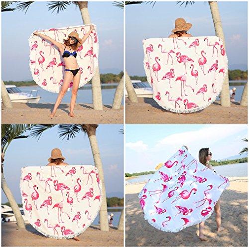 ASTIHN Beach Holiday Summer Time Sunflower Beach Towel Tablecloth Meditation Round Yoga Mat Scarf Shawl Screen Printed Design 60 inch round